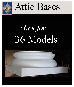 Attic bases for Decorative columns