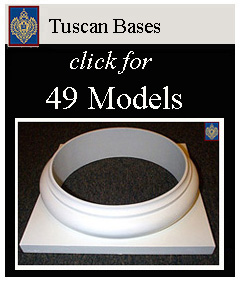 Tuscan Round Bases hollow and solid load bearing