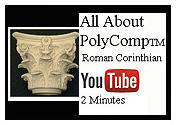 youtube video all about polycomp roman corinthian capitals